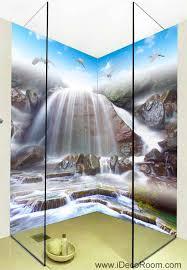 3d Wallpaper Home Decor by 3d Wallpaper Birds Fall Stream Wall Murals Bathroom Decals Wall