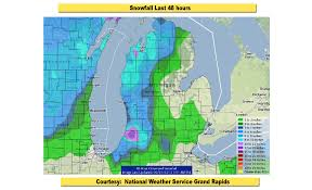 Western Michigan Map by Lake Effect Snow Buries Western Michigan And The Upper Peninsula