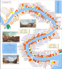 Map Venice Italy by Plan Grand Canal Venise Love This Interactive Map Venezia