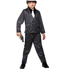 boys gangster wise guy costume fancy dress up halloween party mob