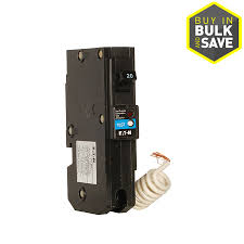 ge q line 20 amp single pole ground fault circuit breaker bright