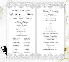 cheap wedding programs printed printed wedding programs gray lace programs for wedding
