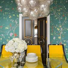 Chinoiserie Dining Room by Gold Dining Room Wallpaper Design Ideas