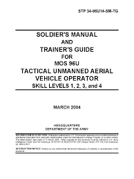 whats included in 96u restricted u s army tactical unmanned aerial vehicle operator
