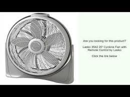 lasko cyclone fan with remote lasko 3542 20 cyclone fan with remote control by lasko youtube