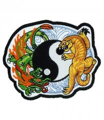 tiger blue yin yang patch patches