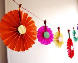 garland decor colorful rosette ornaments cinco