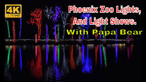 Zoo Lights Az by 4k Phoenix Zoo Lights With Light Shows And Displays Papa