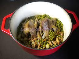 cuisiner des petit pois surgel pigeons petits pois lardons les délices de mimm