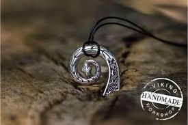 handmade silver charm necklace images Drakkar pendant a beacon for those looking for their path in life jpg