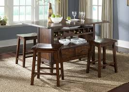 counter height kitchen island dining table cabin fever rectangular counter height center island by liberty