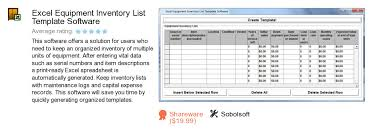 free excel equipment inventory list template software download