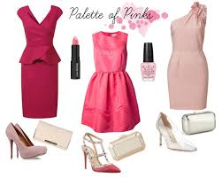 what color makeup should i wear with a pink dress makeup