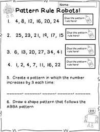 free worksheets pattern rule worksheets grade 6 free math