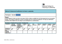 npqsl combined task new framework 2016 successful submission