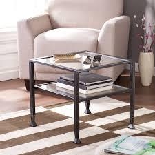 southern enterprises metal 2 shelf end table black walmart com