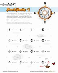 pirate math fraction worksheets education com