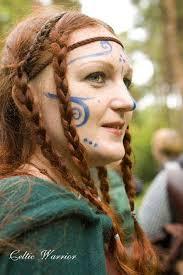 celtic warrior hair braids irish woad and braids woad an annual eurasian plant isatis