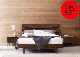 King Platform Bedroom Set by 3pc Greenington Currant Modern California King Platform Bedroom