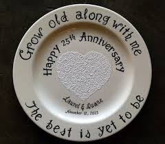50th anniversary plates you can engrave custom name personalized painted ceramic wedding plate or