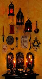 tools on the wall above the altar great idea right where you