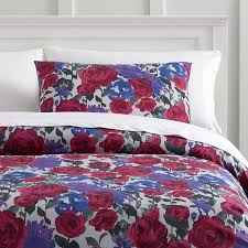 watercolor floral duvet cover sham pbteen