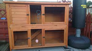 Rabbit Hutch Plans For Meat Rabbits Outdoor Large 2 Tier Rabbit Hutches For Awesome Outdoor Pet House