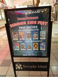 free movies for kids at temple mall all summer long