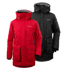 didriksons trew men s jacket coal black red