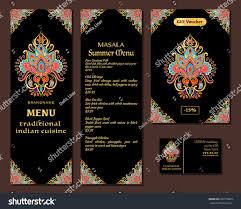 indian menu template indian food restaurant menu template food stock vector 670579609