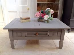 grey hand painted pine coffee table annie sloan french linen