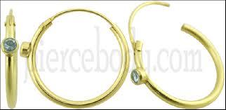 piercing aur nestemate 14k aur ureche hoop piercing bijuterii