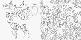enchanted forest coloring pages chainimage