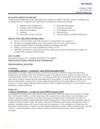 resume summary of qualifications management awesome administrative assistant resume summary administrative