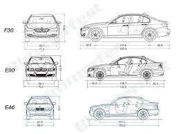 bmw 328i length f30 3 series sedan complete specs and comparison to e90 and e46