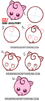 how to draw cute baby chibi jigglypuff from pokemon in easy steps