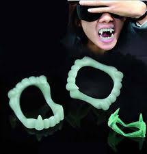 Glow Halloween Costume 5pcs Halloween Costume Fangs Teeth Kids Vampire Fang Glow