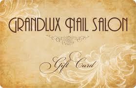 salon gift card gift card grandlux nail salon