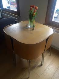 discontinued ikea fusion space saving compact table with 4 chairs