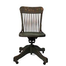 White Swivel Office Chair Antique Wooden Desk Chair On Wheels Bankers Oak Rolling Brilliant