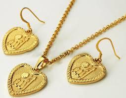 saudi arabia gold earrings buy 18k gold plated heart design high fashionable muslim allah