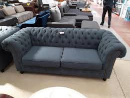 tissu canap canap chesterfield tissu 2 places ides