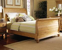 Oak Sleigh Bed Antique King Size Sleigh Bed King Size Sleigh Bed