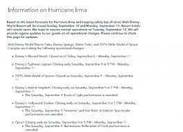 Blizzard Resume Update On Disney World During Hurricane Irma The Epoch Times