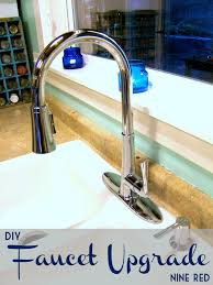 how to install new kitchen faucet nine red installing a new faucet