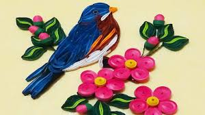 quill paper how to make beautiful blue bird paper quilling art