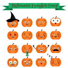 cute halloween images cute halloween pumpkin emoji set emoticons stickers design