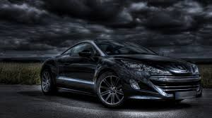 peugeot rcz r black cars front angle view peugeot rcz vehicles walldevil