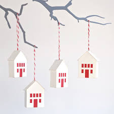 easy to make ornaments little houses christmas ornament kit