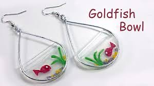 cd earrings recycled cd and polymer clay goldfish bowl earrings tutorial the